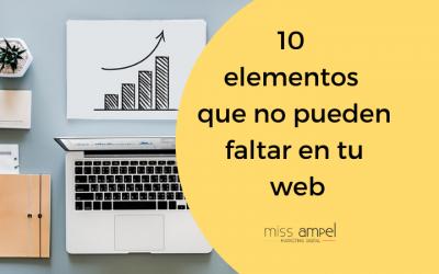 10 elementos de una web que no pueden faltar, ¿los tienes todos?